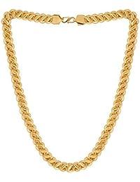 Onnet 1 Gram Gold Plated Designer Chain 1 CM Thick For Men (CN010)