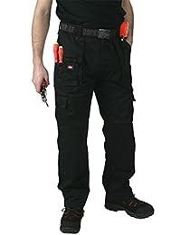 Herren Lee Cooper Arbeitskleidung LCPNT206 Ladung Merhere Taschen Hose mit knietaschen