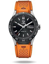 TAG Heuer conectado lujo reloj inteligente (Android/iPhone) (naranja)