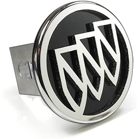 Buick 3D Black Infill Logo Steel Tow Hitch Cover Plug, Official Licensed by Au-Tomotive Gold, Inc.