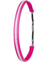 Ivybands Headband-The Non Slip Headband   Special Neon Pink Reflective Slim Line, 5/8-Inch Wide Neon Pink Reflective Headband, Pink, One Size, IVY789 by Ivybands