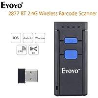 Eyoyo Inalámbrica Bluetooth portátil escáner lector código de barras Compatible con Windows, Android, iOS y funciona con teléfonos Android, tabletas u ordenadores