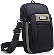 SPAHER Small Men Side Bag Shoulder Bag Outdoor Sports Hiking Waist Pack Crossbody Tactical MOLLE EDC Cellphone
