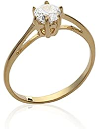 ISADY - Agnetha Gold 5mm - Women's Ring - 750/000 (18 Carat) Gold - Cubic Zirconia