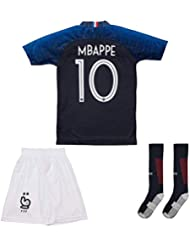 f3eff437c08 France Mbappe Jersey  10 Away 18 19 - Football Kits Soccer Shirt For Kids
