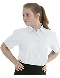 6e8865b4052 ex BHS Girls School Shirt (Twin-Pack) Short Sleeved Non Iron Easy Care
