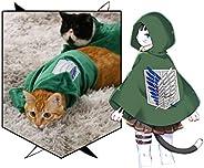 Pet Costume Cat Dog Cosplay Attack on Titan Anime Cartoon Plush Cloak Scouting Legion Freedom Cloak Cape Pet C