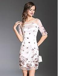 e4b280f3936b PU PU Attillato Fodero Vestito da Donna-per Uscire Vacanze Taglie Forti  Sensuale Romantico Sofisticato Ricamato