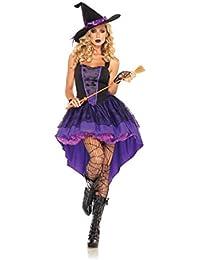 Disfraz de mujer para adultos de bruja con gorro mágico con cola para fiestas, Cosplay
