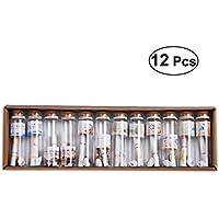 VORCOOL 12 stück Glasflaschen Korkenflaschen (Random Stil)