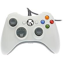 OSTENT Cablata USB Controllore Gamepad Joystick Joypad Compatibile per Microsoft Xbox 360 Consolle Windows PC Portatile Computer Videogiochi Colore Bianca