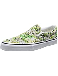 Vans Classic Slip-On, Zapatillas Unisex Adulto, Multicolor (Stripes/Navy), 35 EU