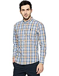 Red Tape Men's Checkered Regular Fit Casual Shirt