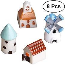 OUNONA - Juego de 8 adornos en miniatura para jardín de hadas, casa de muñecas