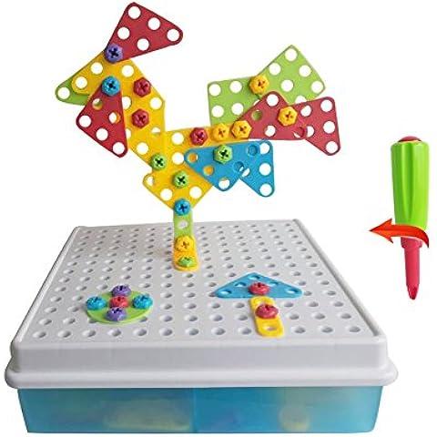 Rompecabezas 3D Bricolaje Bloques de Construcción Puzzle Bandeja el Tablero Creativos Juguetes la Caja para Niños de 3 Años+