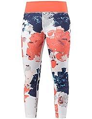 HEAD Vision Graphic 7/8 Pant Womens Pantalones, Mujer, White/Coral, Large