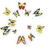 3D Butterfly Yellow 12 pcs