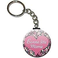 Bonne Fête Mamie Porte Clés Chaînette 3,8 centimètres Idée Cadeau Accessoire pour la Fête des Grands Mères Noël Anniversaire Mamy