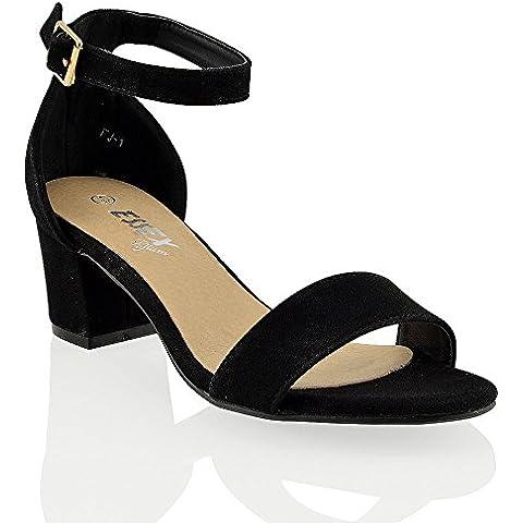 Essex Glam Sandalo Donna Sintetico Tacco Medio-Basso con Cinturino alla