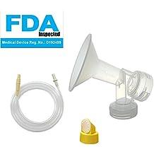 Maymom Kit extractor de leche Medela de oscilación de lactancia. Incluye 1 mediana para senos (Comparable a Medela PersonalFit 21mm), 1 válvula, 1 membrana y 1 tubo de repuesto para la bomba de oscilación Medela. Reemplace Medela PersonalFit 21mm senos, válvula, membrana, y tubo swing