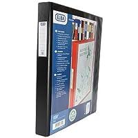 Elba Vision   126710  - Carpeta tamaño A3 vertical de 4 anillas (PVC, 35 mm, 1 unidad), color negro