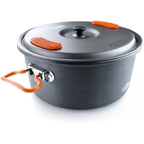 GSI Outdoors Halulite anodizado duro de aluminio de 3.2 litros Pot