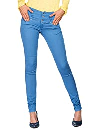 Salsa - Jeans clairs Push Up avec 3 boutons - Mystery - Femme