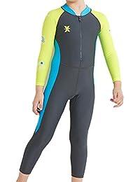 6a0db0c06 ARAUS Niños Traje de Buceo Bañador Protector Solar Surf Engrosamiento  Conjunto Traje de Baño ...