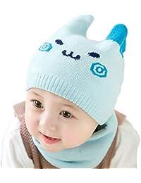 Stillshine bébé mignon Ensemble de Bonnet et Echarpe pour enfant Garder au  chaud pour automne Hiver a8b1a4fbadd