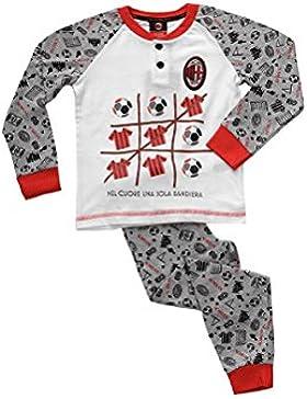 pigiama bambino lungo in cotone jersey AC MILAN prodotto ufficiale art. MI16045