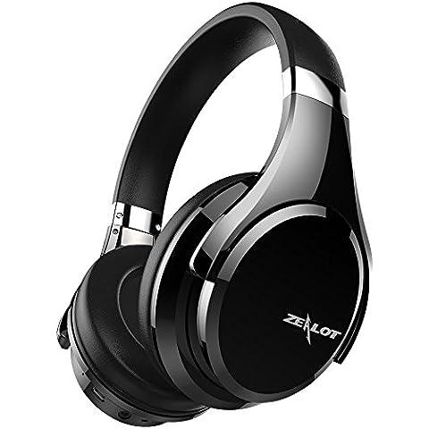ZEALOT B21 Cuffie Wireless Bluetooth Stereo con Bassi profondi, Auricolari Senza Fili Pieghevole Portatile,Touch Control/Headset Over Ear con Microfono /20H Playtime -- NERO
