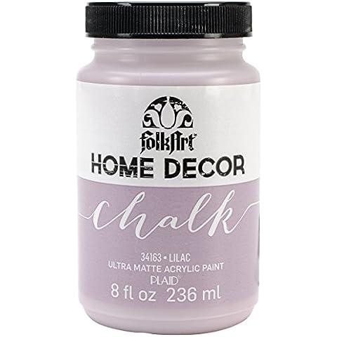 Plaid: Craft Folkart Home Decor Chalk Paint 8 Oz, colore: lilla