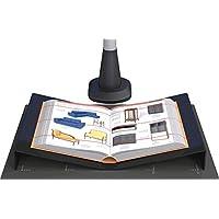 Leggio per scanner overhead e scanner per libri. Area di scansione fino ad A3. Realizzato in poliacrilico nero.