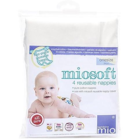 Bambino Mio Miosoft - Pañal de tela, 4 unidades, talla única