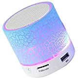 Rewy S-10 Wireless LED Bluetooth Speakers With Built-In Microphone For Handfree Calling Functions, SD Card, USB Slot & FM Radio Supported Compatible With All Android, Windows, IOS And Other Bluetooth Enabled Devices (Assorted Colour)