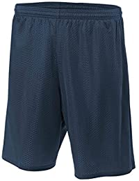 A4 9 Lined Tricot Mesh Shorts, Navy, XX-Large by Unknown