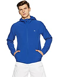 Calvin Klein Performance Hooded Slim Fit Wind Jacket with Statement Logo at The Back