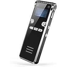 Dr.Meter Digitales Diktiergerät, 8GB Speicher mit MP3 Funktion, Sound Aufnahmegerät für Meetings oder Unterricht