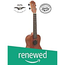 "(Renewed) Juarez JRZ23UK/NA 23"" Soprano Ukulele Kit, Aquila Strings (Made In Italy), Hawaiian Guitar, Rosewood Fingerboard, With Bag And Picks- Natural Brown"
