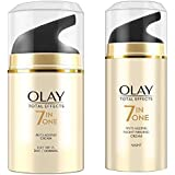 Olay Total Effects Day Cream 7 in 1 Normal SPF 15 (Up to 2x power for skin renewal), 50gm and Olay Total Effects 7 in one Anti-Aging Night Cream 20g