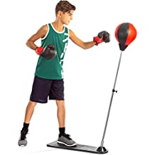 Punching Ball with Stand and Gloves - Height Adjustable - Great Exercise & Fun Activity for Kids by TechTools (Renewed)
