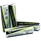 Goal Zero Piles LR06 Lot de 4 piles rechargeables pour guide 10+ mixte adulte Gris