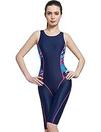 553300bdd47a93 Cokar Badeanzug mit Längerem Bein Damen Einteiler Sportbadeanzug Legsuit  Swimwear