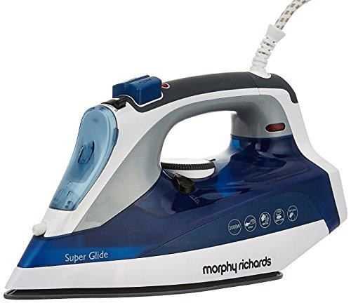 (CERTIFIED REFURBISHED) Morphy Richards Super Glide 2000-Watt Steam Iron (white/blue)