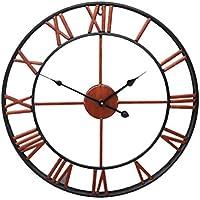 Vosarea Reloj de Pared de Metal Vintage Reloj de Pared con números Romanos  Reloj Redonda Silencioso 2cd8b62bfe6d4