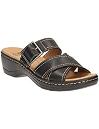 Clarks Women's Hayla Hum Leather Fashion Sandals