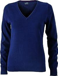 Ladies' V-Neck Pullover - taillierter Damen V-Neck Pullover