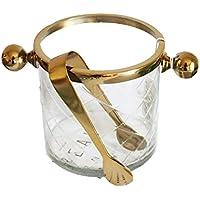 HONGLIVidrio de aleación de Oro Hecho a Mano de Vidrio Transparente champán Cubo de Hielo de Lujo Adornos Retro nórdicos Europeos