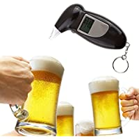 RoadRomao Analizador de Alcohol en Alcohol analizador de alcoholímetro analizador Digital Prueba de Llavero