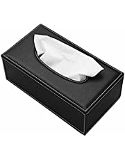 BuyBack® Black Leather Finish Tissue Holder Box with Free Tissues